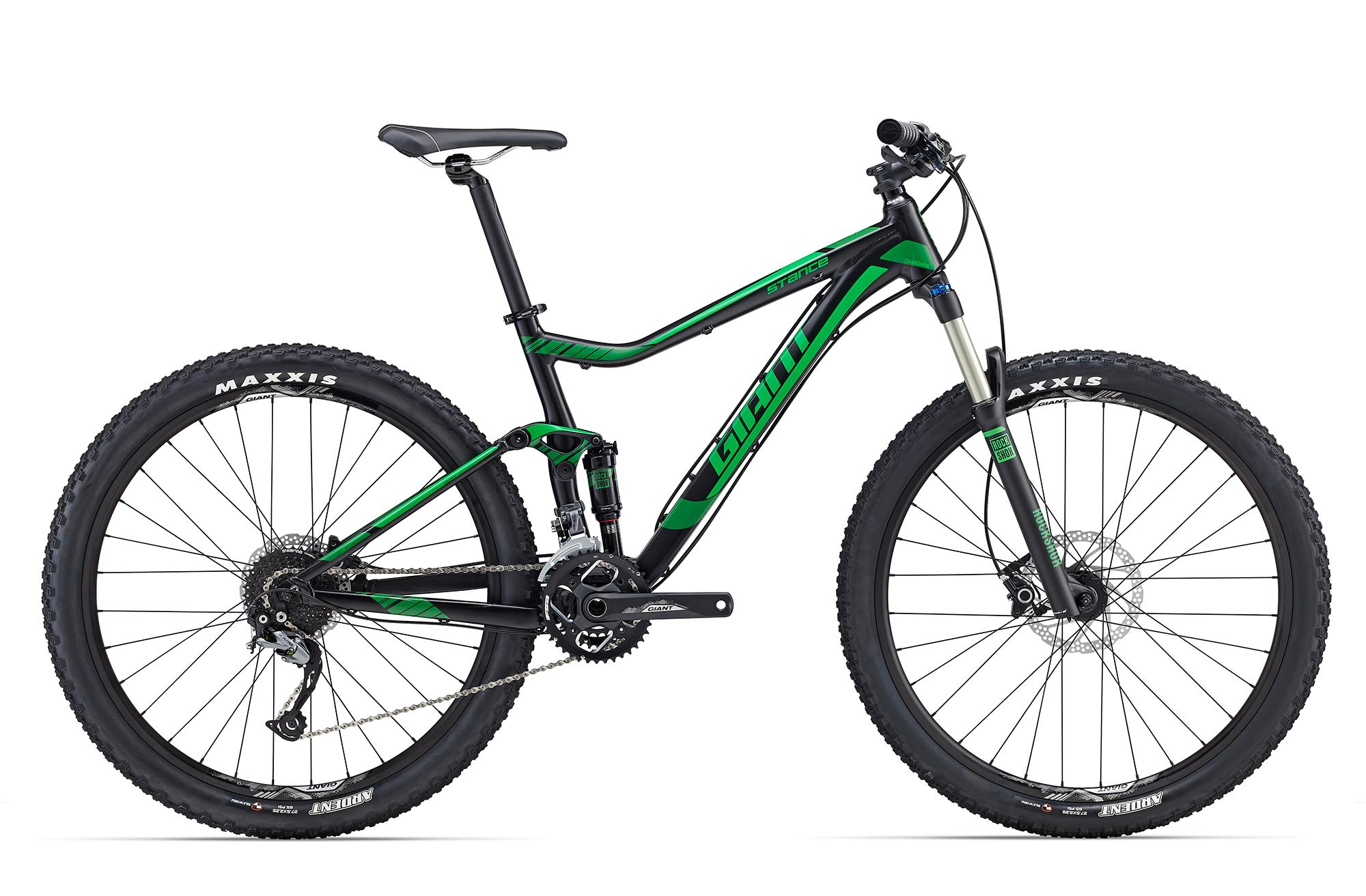 2016 GIANT STANCE 27.5 FULL SUSPENSION MOUNTAIN BIKE