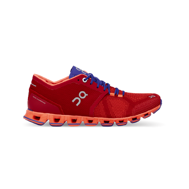 On Running Cloud X Womens Trainers, Red / Flash